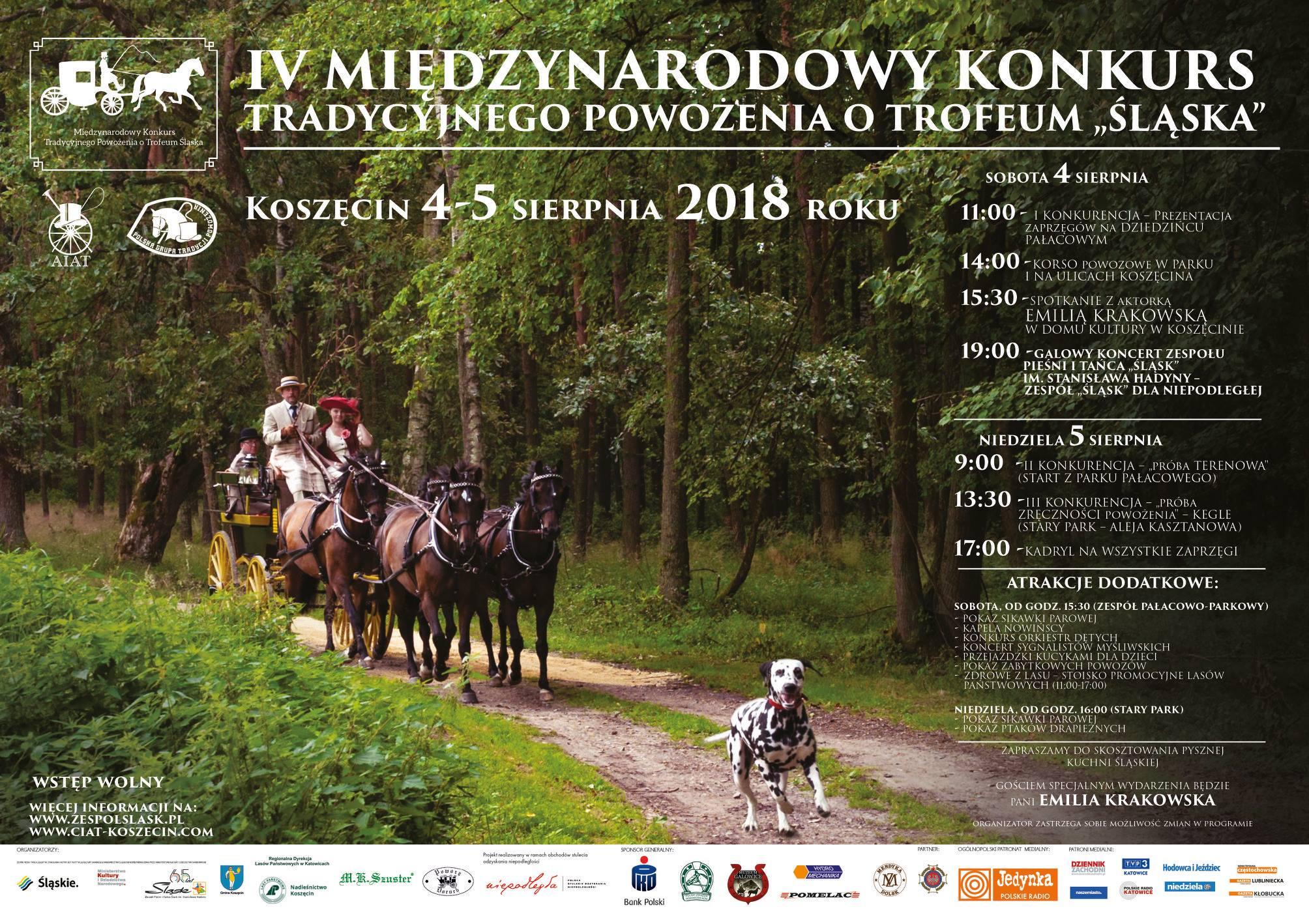 IV Międzynarodowy Konkurs Tradycyjnego Powożenia o Trofeum Śląska 4-5 sierpnia 2018